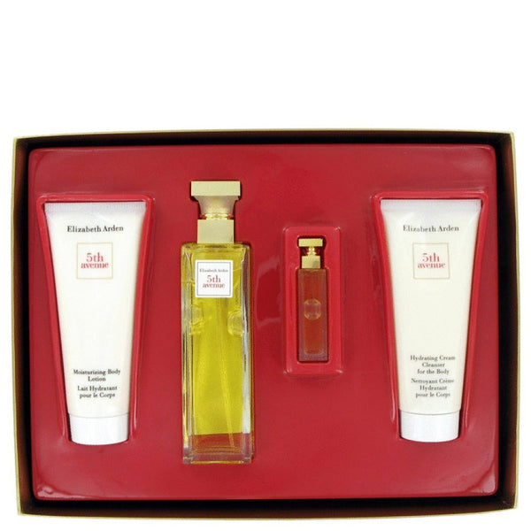 5th Avenue By Elizabeth Arden Gift Set -- 2.5 Oz Eau De Parfum Spray + 3.3 Oz Body Lotion Tube + 3.3 Oz Hydrating Cream Cleanser + .12 Parfum - shophomegardens.com