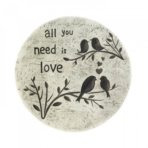 All You Need Is Love Stepping Stone - shophomegardens.com