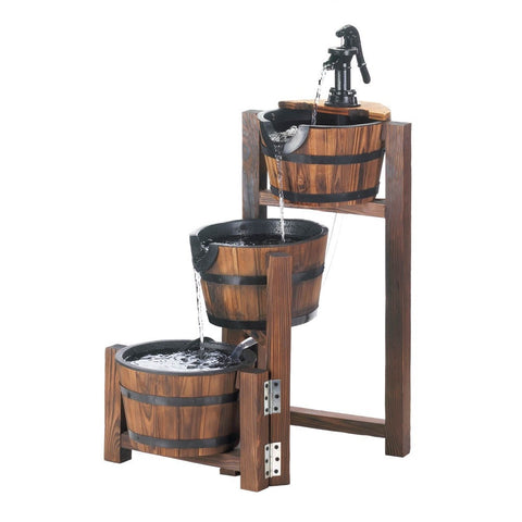 Apple Barrel Cascading Fountain - shophomegardens.com