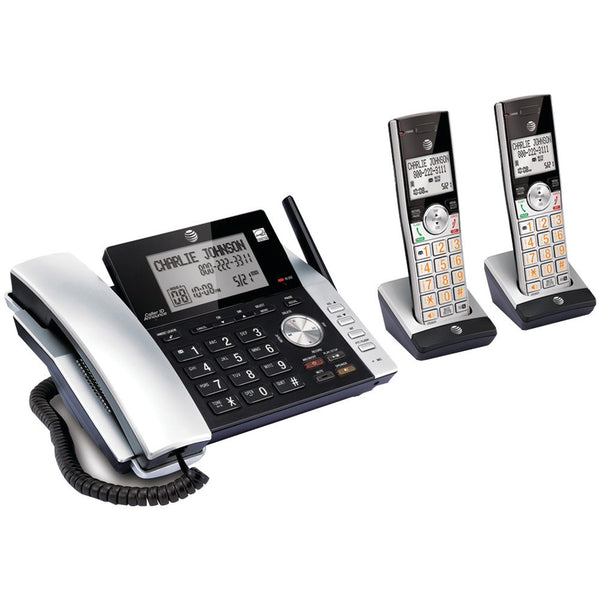 Att 2-handset Corded And Cordless Answering System - shophomegardens.com