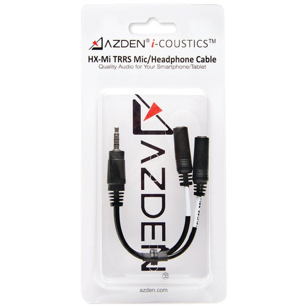 Azden I-coustics Hx-mi Trrs Microphone And Headphone Interface Cable For Smartphones & Tablets - shophomegardens.com