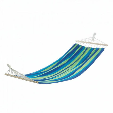 Bahama Blue Stripe Single Hammock - shophomegardens.com