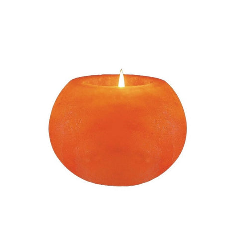 Ball Shaped Himalayan Salt Candle Holder - shophomegardens.com