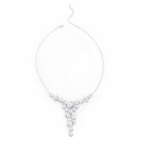 Bejeweled Cz Bib Necklace - shophomegardens.com