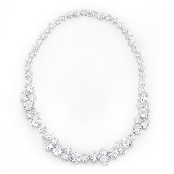 Bejeweled Cz Collar Necklace - shophomegardens.com