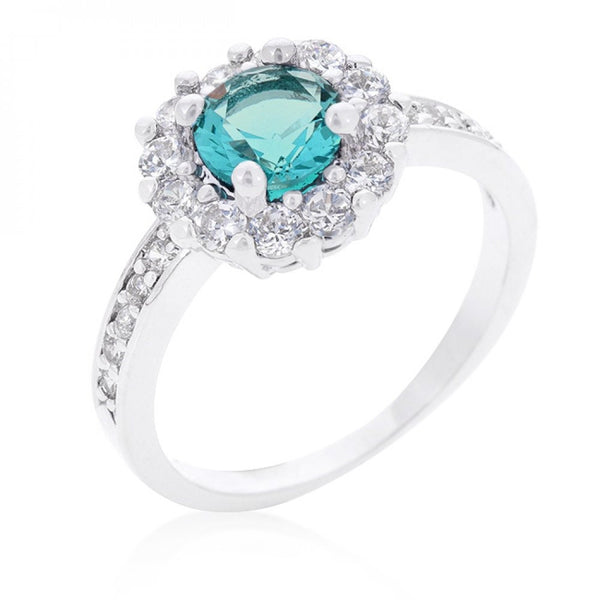Bella Birthstone Engagement Ring In Blue - shophomegardens.com