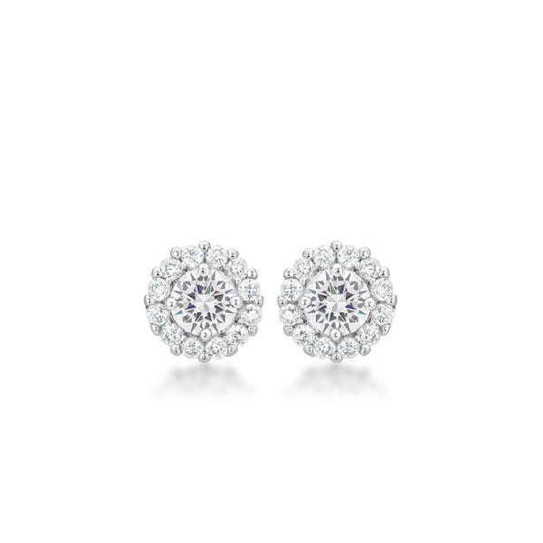 Bella Bridal Earrings In Clear - shophomegardens.com