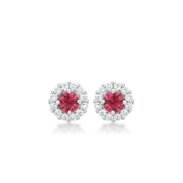 Bella Bridal Earrings In Pink - shophomegardens.com