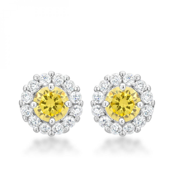 Bella Bridal Earrings In Yellow - shophomegardens.com
