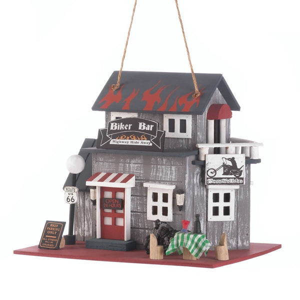 Biker Bar Birdhouse - shophomegardens.com
