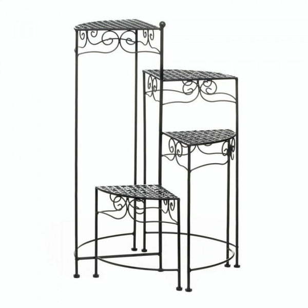 Black 4-tier Metal Plant Stand - shophomegardens.com