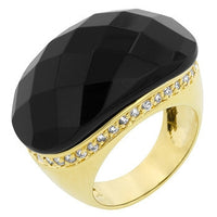 Black And Gold Cocktail Ring - shophomegardens.com