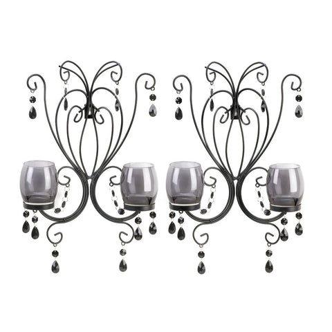 Black Elegant Wall Sconces - shophomegardens.com