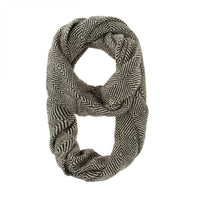 Black Patterned Infinity Scarf - shophomegardens.com