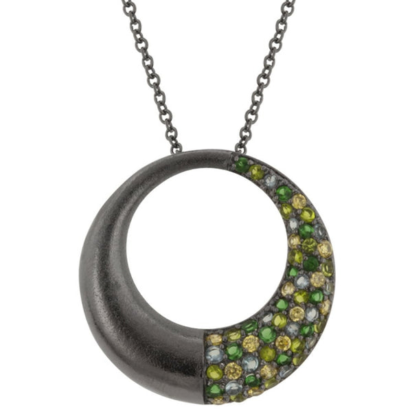 Black Rhodium Hooplet Pendant - shophomegardens.com