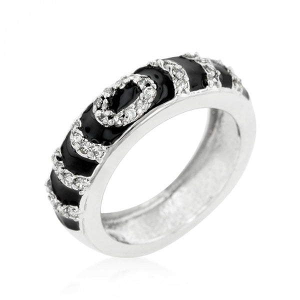 Black Ripple Ring (size: 05) - shophomegardens.com