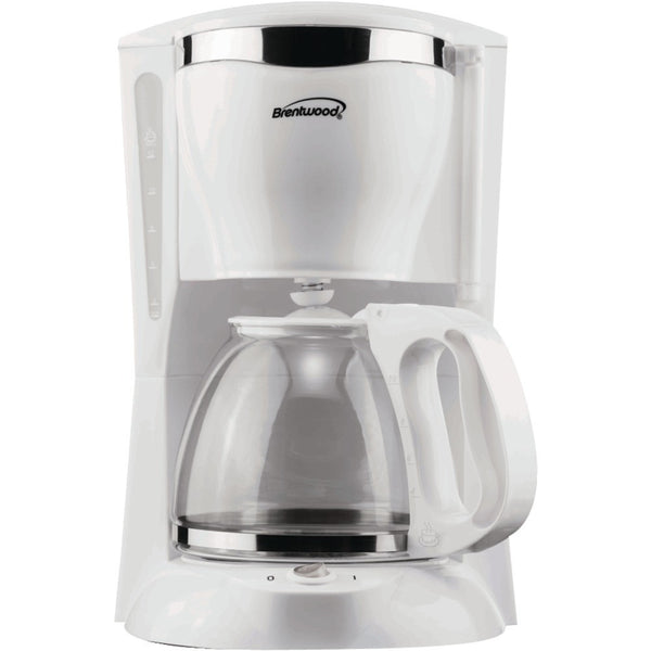 Brentwood 12-cup Coffee Maker (white) - shophomegardens.com