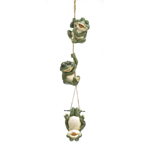 Frolicking Frogs Hanging Decor - shophomegardens.com