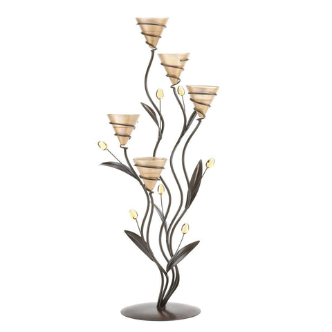 Large Golden Dawn Lily Candleholder - shophomegardens.com