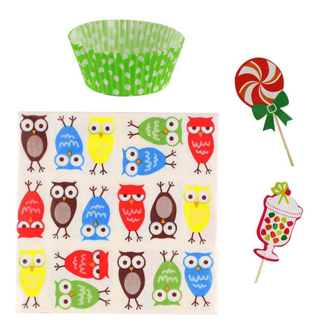 Owl Cupcake Party Pack - shophomegardens.com