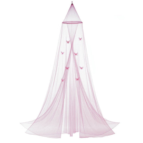 Pink Butterfly Bed Canopy - shophomegardens.com