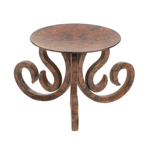 Rustic Scrollwork Candle Stand - shophomegardens.com