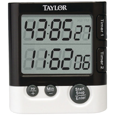 Taylor Dual Event Digital Timer And Clock - shophomegardens.com