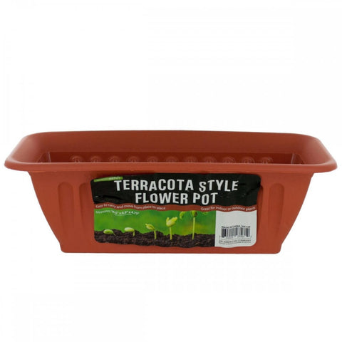 Terracotta Style Window Box Planter - shophomegardens.com