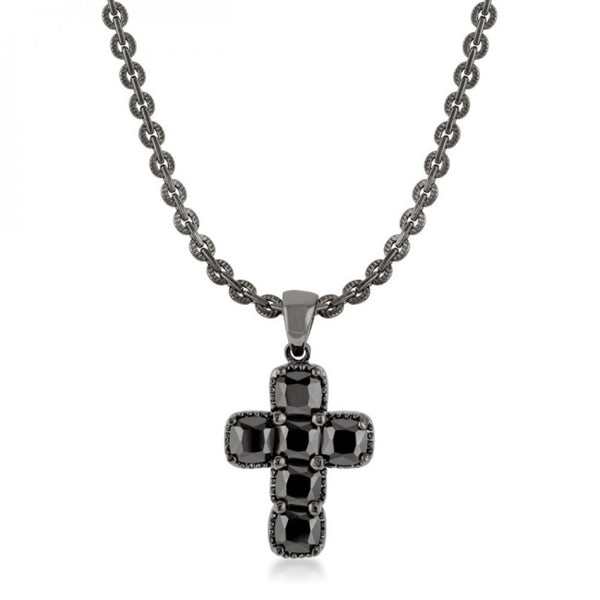 Black Cross Necklace - shophomegardens.com