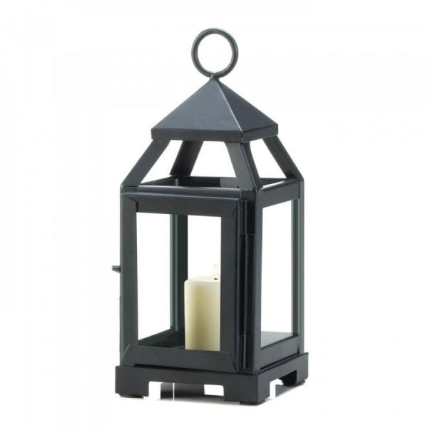 Black Mini Contemporary Lantern - shophomegardens.com
