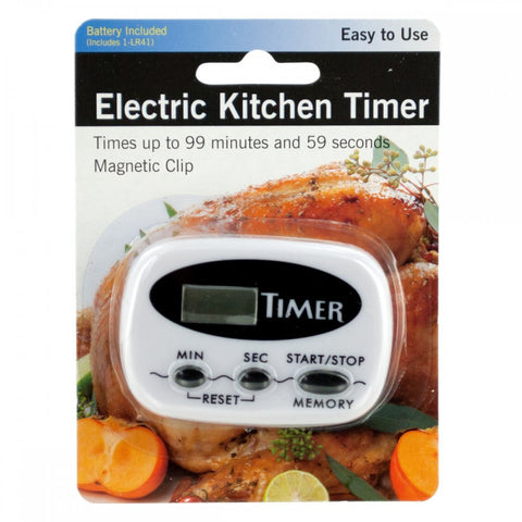 Electric Kitchen Timer With Magnetic Clip - shophomegardens.com