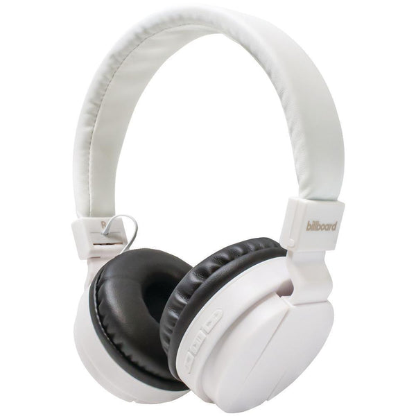 Billboard Large On-ear Bluetooth Headphones (white)