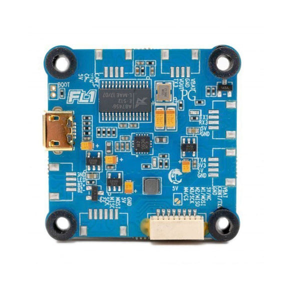 FlightOne Cricket Revolt OSD Lite Flight Controller turquoise blue