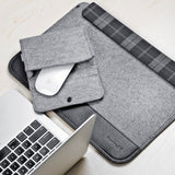 "Inateck Ultra Slim 11-11.6 Inch MacBook Air Sleeve Case Cover Protective Bag for Apple MacBook Air 11.6"", Gray"
