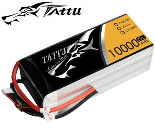 TATTU 10000mAh 6s 25c Lipo Battery