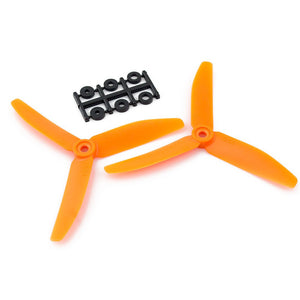 HQProp 5x4x3 CCW Propeller - 3 Blade (Orange - 2 pack)