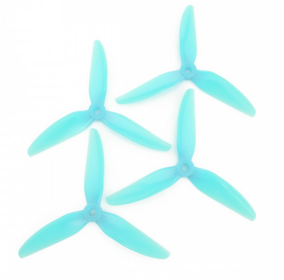 HQProp DP 5.5X4X3V1S PC - 3 Blades (Set of 4 - Light Blue)