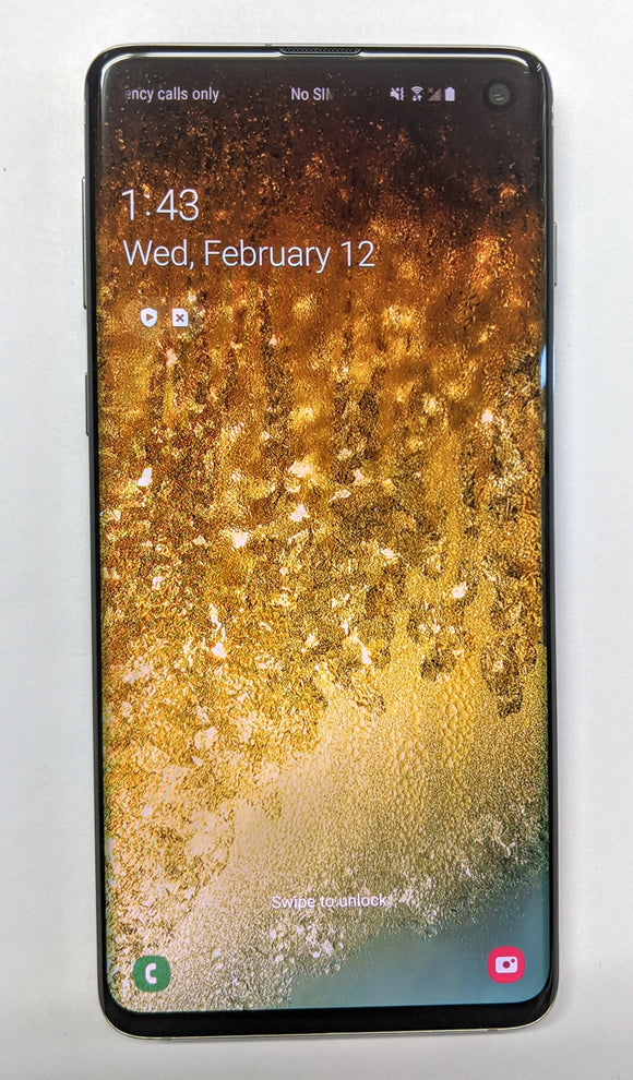 Samsung Galaxy S10 prism black 128GB storage 8GB memory