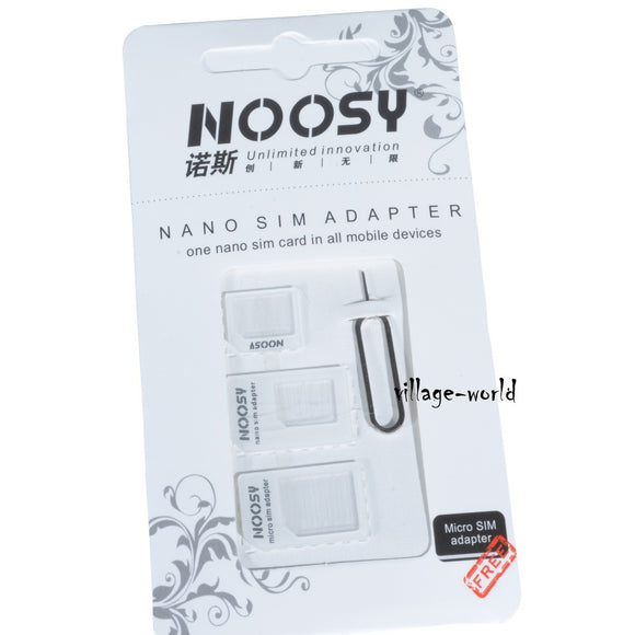 3 in 1 Noosy Nano Micro Standard SIM Adapter for iPhone