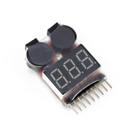 Lipo Battery Voltage Tester / Low Voltage Buzzer Alarm 1-8S