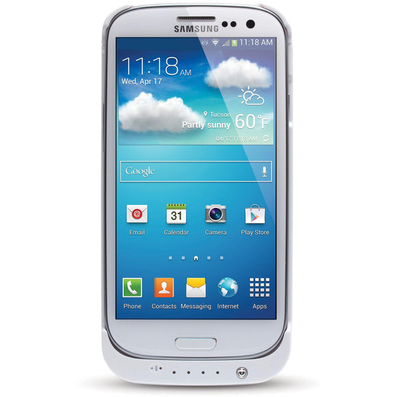 ATT SPB3200-WHT Battery Case for Samsung Galaxy S4, White