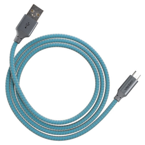 Ventev Chargesync Alloy Cable 4 ft., USB to Micro USB cable in Cobalt
