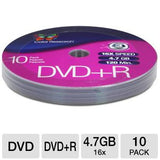 Color Research DVD+R 10-Pack - 10-Pack, 16X, 120 mins, 4.7GB