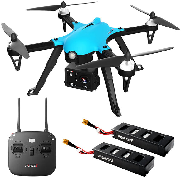 Force1 F100 Ghost Drone Camera - Go Pro Drone with Brushless Drone