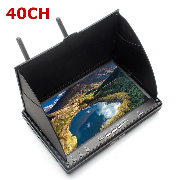 Eachine LCD5802S 5802 40CH Raceband 5.8G 7 Inch Diversity Receiver Monitor with Built-in Battery