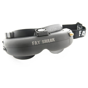 Fat Shark Attitude V3 FPV Goggles w/ Black Fan Face Plate and 3D Support