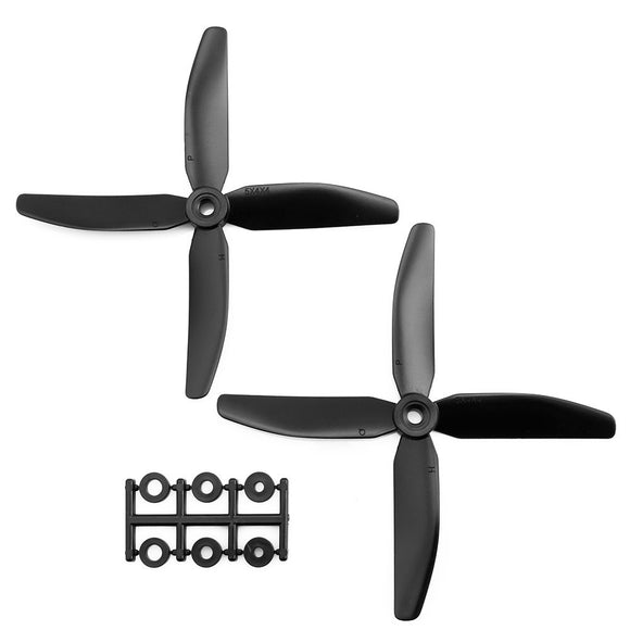 HQProp 5x4x4B CCW Propeller - 4 Blade (2 Pack - Black Nylon Glass Fiber)