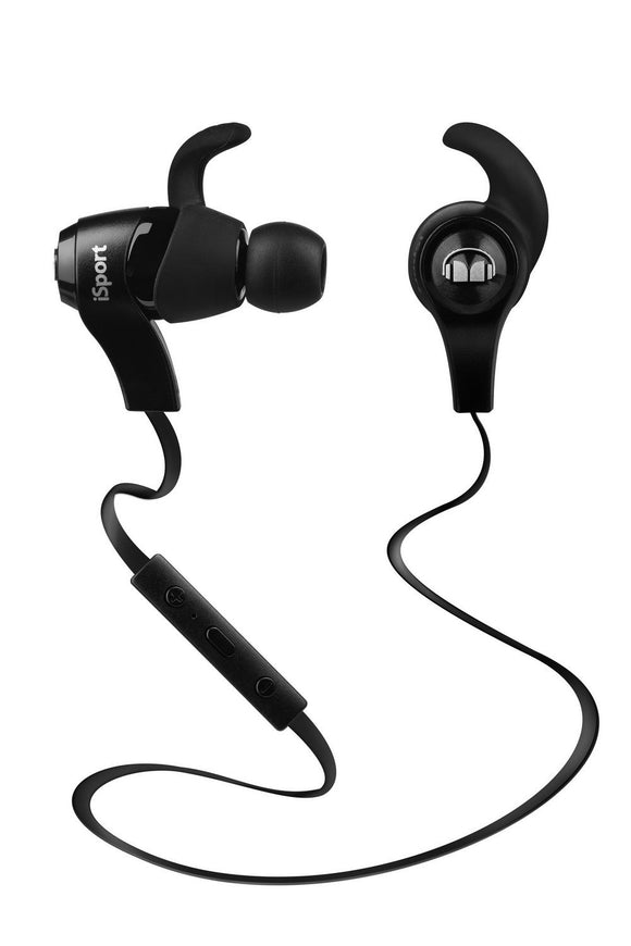 Monster iSport Bluetooth Wireless In-Ear Headphones- Black -No Packaging