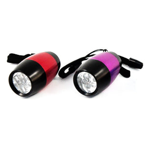 2pk Universal Tool Mini 6 LED Barrel Lights w/ Attached Nylone Strap (Random Colors)