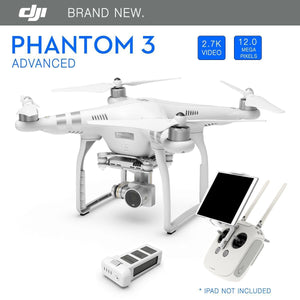 DJI Phantom 3 Advanced GPS Drone with 2.7K 12 Megapixel HD Camera